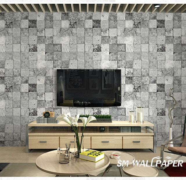 New Design 3d Small Brick Wall Covering Stone Brick Pvc