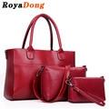 RoyaDong 2017 Women Composite Bags Pu Leather Top-Handle Bag Women Shoulder Bag Set For Pieces