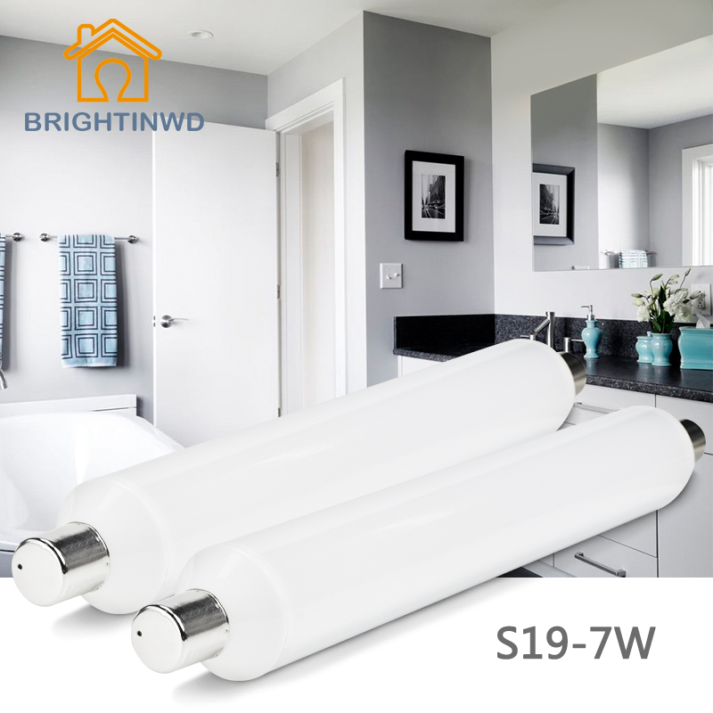 BRIGHTINWD Epistar LED S19 SMD2835 Linestra Lampada LED Fluorescent Tube 310mm 7W 220V-240V Osram LED Energy Saving Lamp brightinwd epistar led s19 smd2835 linestra lampada led fluorescent tube 310mm 7w 220v 110v osram rohs led energy saving lamp