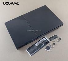 OCGAME Cao Chất Lượng Full Nhà Ở Vỏ Dành Cho PS2 Mỏng 7W 70000 7000X Tay Cầm Bao Da Với Nhãn
