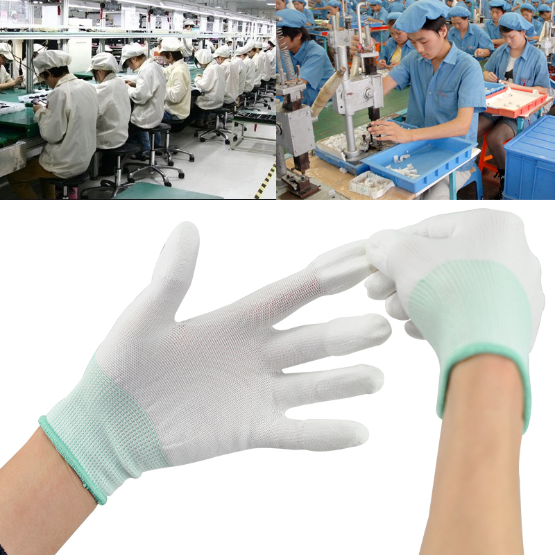 Free Shipping 3 Pairs Anti Static ESD Safe Universal Gloves Electronic Working Gloves PC Computer Antiskid for Finger Protection 1pair antistatic gloves anti static esd electronic working gloves pu coated palm coated finger pc antiskid for finger protection