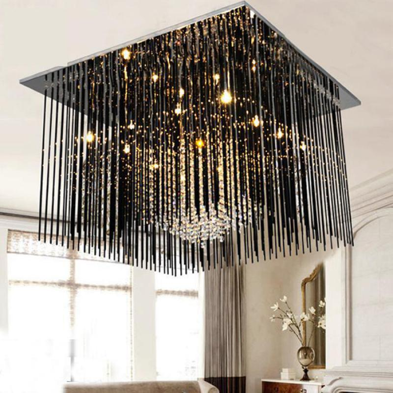 Antique G4 Led Black glass Bar ceiling lamps for Dining Room spuare led Ceiling Lights Kitchen Rectangle Lamp Lamparas De Techo