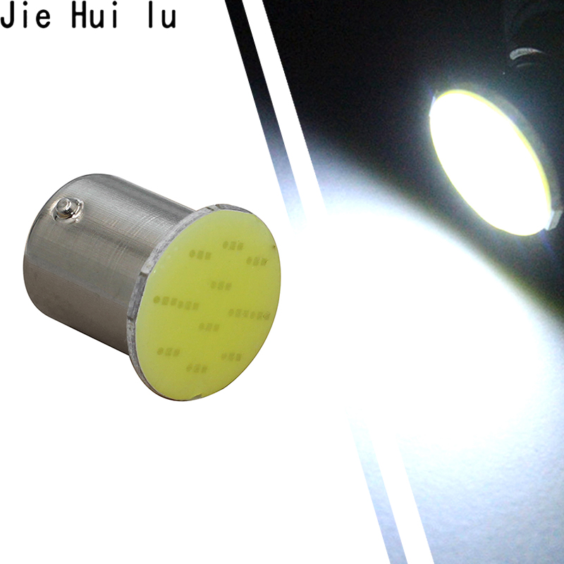 Ba15s Cob P21w LED 12 SMD 1156 12V 1157 Bulbs RV Trailer Truck Interior Lamp 1073 Parking Auto Car Light Super White 1Pcs
