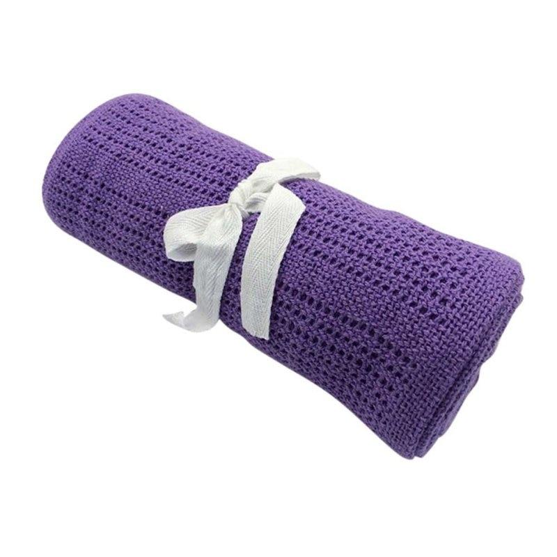 100cmX80cm Infant Baby Blankets Cotton Crochet Prop Crib Newborn Sleeping Bed Supplies