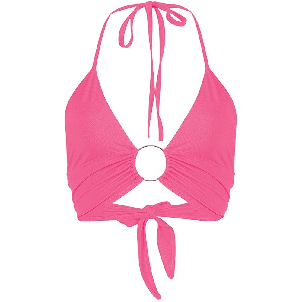 Vest Crop-Top Bustier HALTERNECK Camisole Backless Party Summer Sexy Women Fashion Ladies