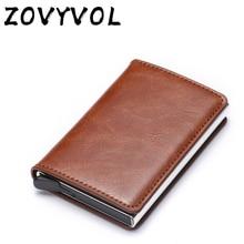 ZOVYVOL Anti Wallet Men Money Bag Slim Mini Purse Male Aluminium Rfid Card Holder Thin Small Smart France