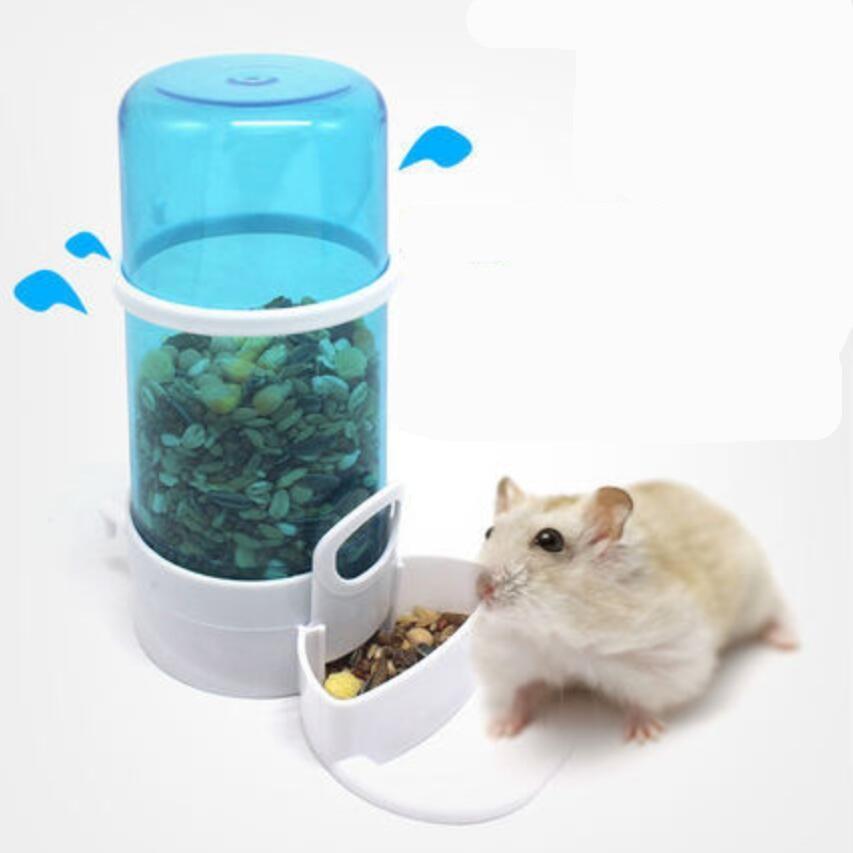 1pcs Automatic Pet Food Dispenser Hamster Hedgehog Feeder Dispenser Small Animal Birds Squirrel Drinking Food Box Pet Feeder