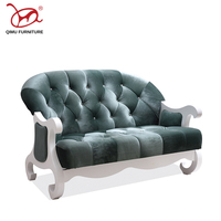 Modern Europe And America style High quality rebound sponge 2 seats sofa living room good quality furniture soft flannel sofas