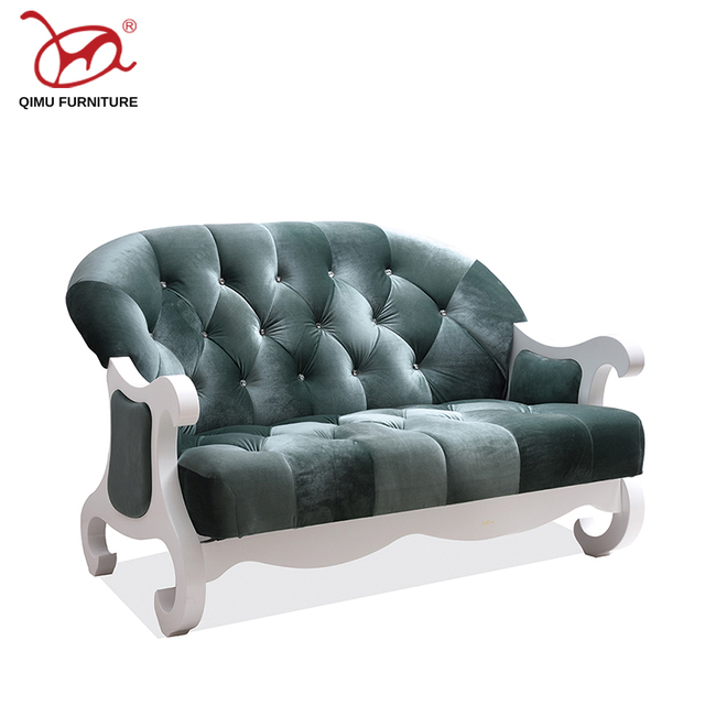Modern Europe And America Style High Quality Rebound Sponge 2 Seats Sofa Living Room Good
