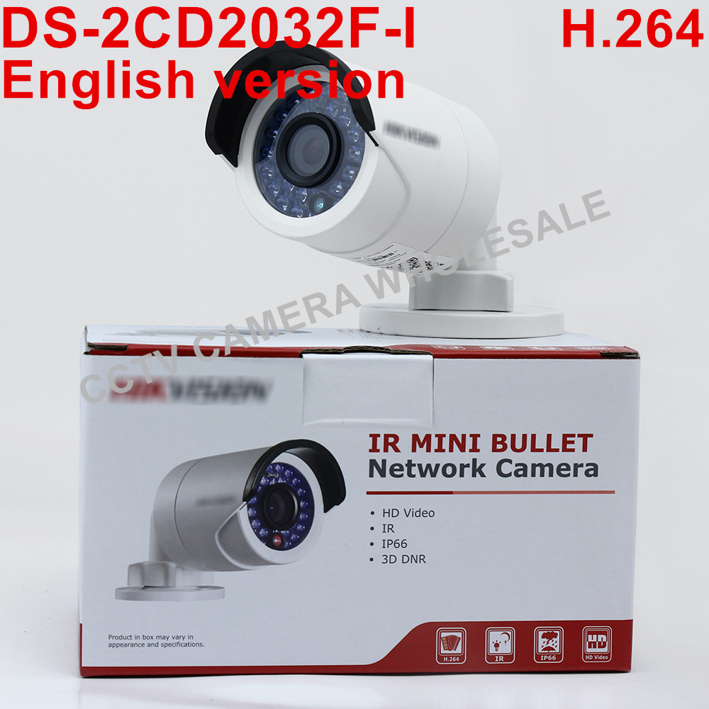 In stock International English version DS-2CD2032F-I 3MP mini bullet POE CCTV camera, IP security camera fundamentals of physics extended 9th edition international student version with wileyplus set