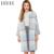 Hyh haoyihui 2017 nova marca de moda outono mulheres azul casual xadrez cardigan único botão o pescoço longo manga longa camisola