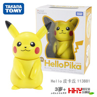 TOMY Pokemon HelloPika Pikachu Machine Action Figure Decoration Kids Playmate Toys Gifts