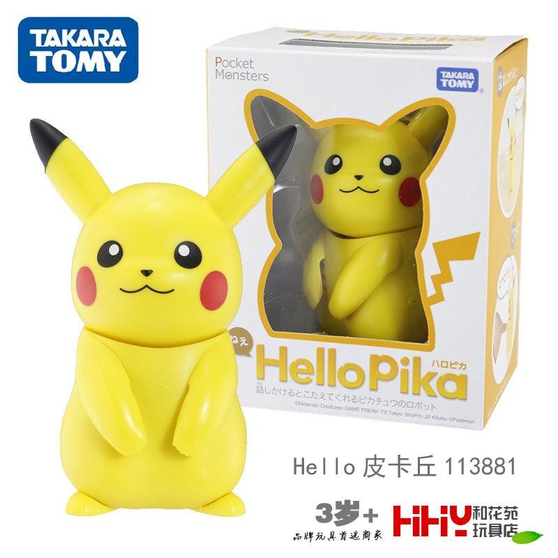 TOMY Pokemon HelloPika Pikachu figurine d'action décoration enfants Playmate jouets cadeaux