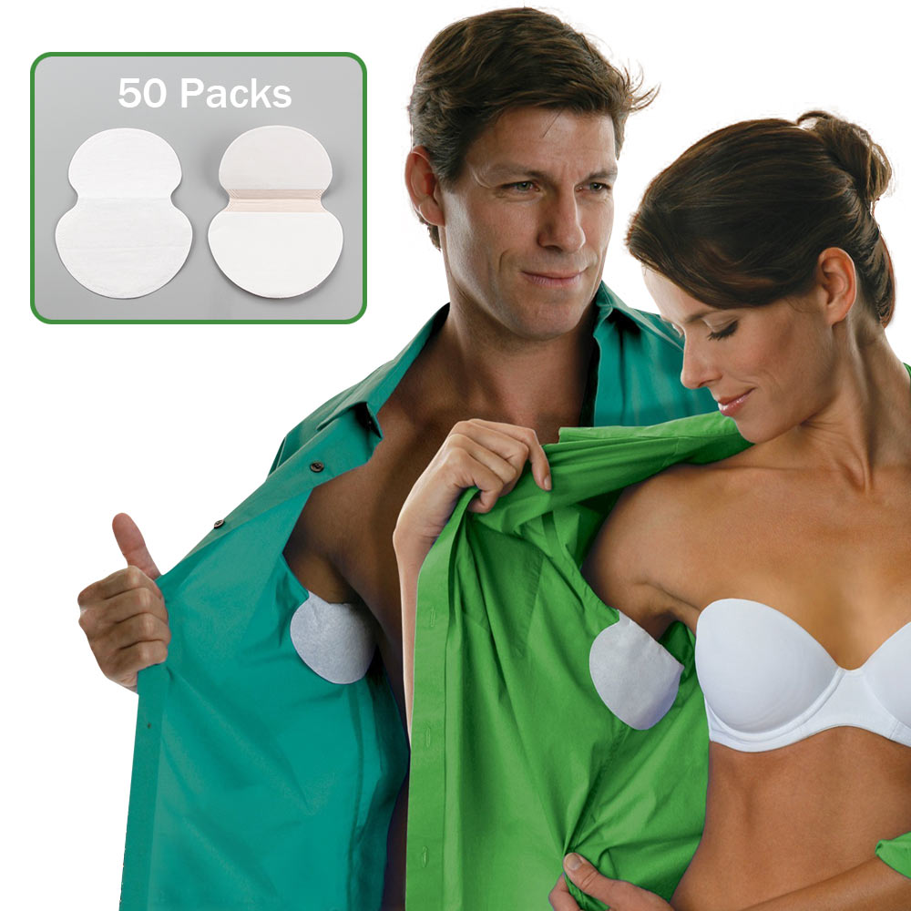 100pcs 50 Packs Summer Armpit Sweat Pads Underarm Deodorants Stickers Absorbing Disposable Anti Perspiration Patch Wholesale invisible bra