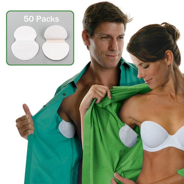 100 piezas 50 paquetes verano axila sudor de las axilas desodorantes pegatinas absorbente desechable Anti transpiración parche venta al por mayor