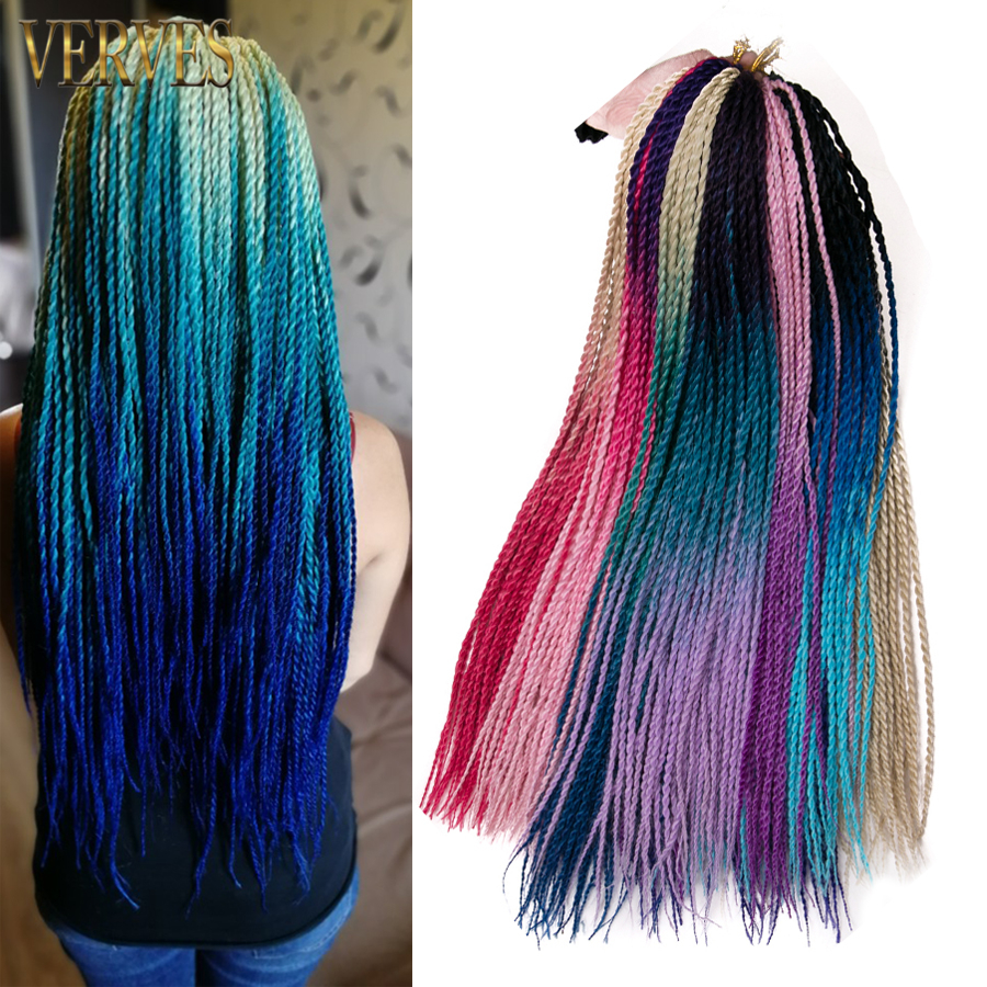 colorful crochet hair