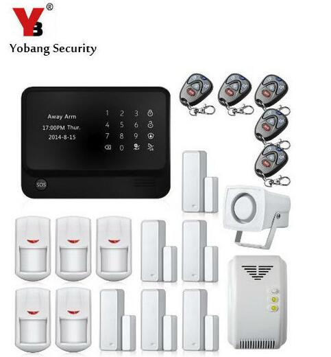 Yobang Security freeship App Controlled Wireless Wifi GSM Home Security Alarm System ,Wifi Gsm Alarm System With Gas Sensor yobang security wifi gsm alarm systems wifi gsm gprs wifi automation gsm alarm system home protection gprs wifi gsm alarm system