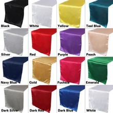 OurWarm 30cm*275cm Satin Table Runners For Wedding Party Decoration Modern Table Runner Decor For Home Hotel Wedding Decoration