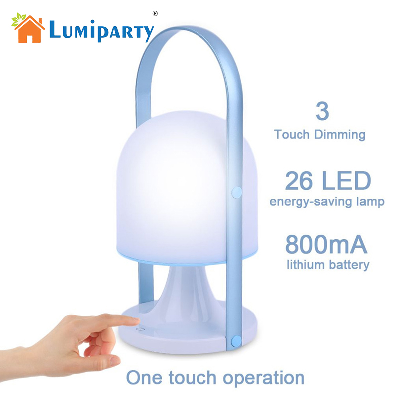 LumiParty Waterproof Outdoor USB Rechargeable Handheld LED Lamp 3 Lighting Modes Touch Switch Camping Emergency Night Light 1pcs portable 20w rechargeable led floodlight ac 85 265v waterproof emergency light camping outdoor lighting lamps