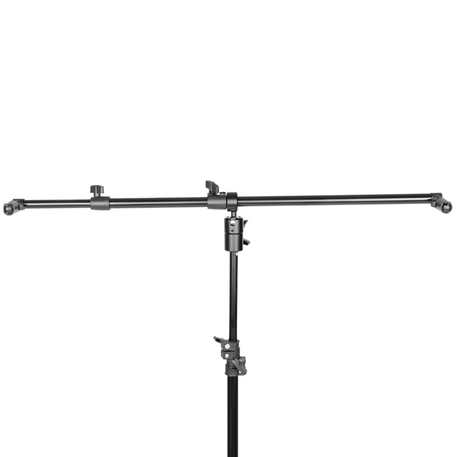 Foto Studio Teleskop Reflektor Halter Erweiterbar Boom Arm 360 Grad Swivel mit Einstellbare Länge 60cm 120cm für fotografie