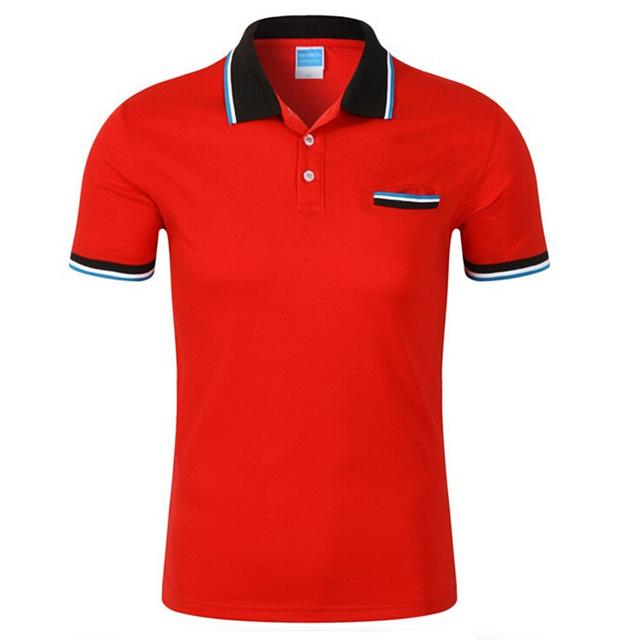 Camisa de Polo Hombres de manga Corta de Algodón Transpirable Para Hombre Da Vuelta-abajo camisa Ocasional homme Polos camisas Hombres ropa de Marca