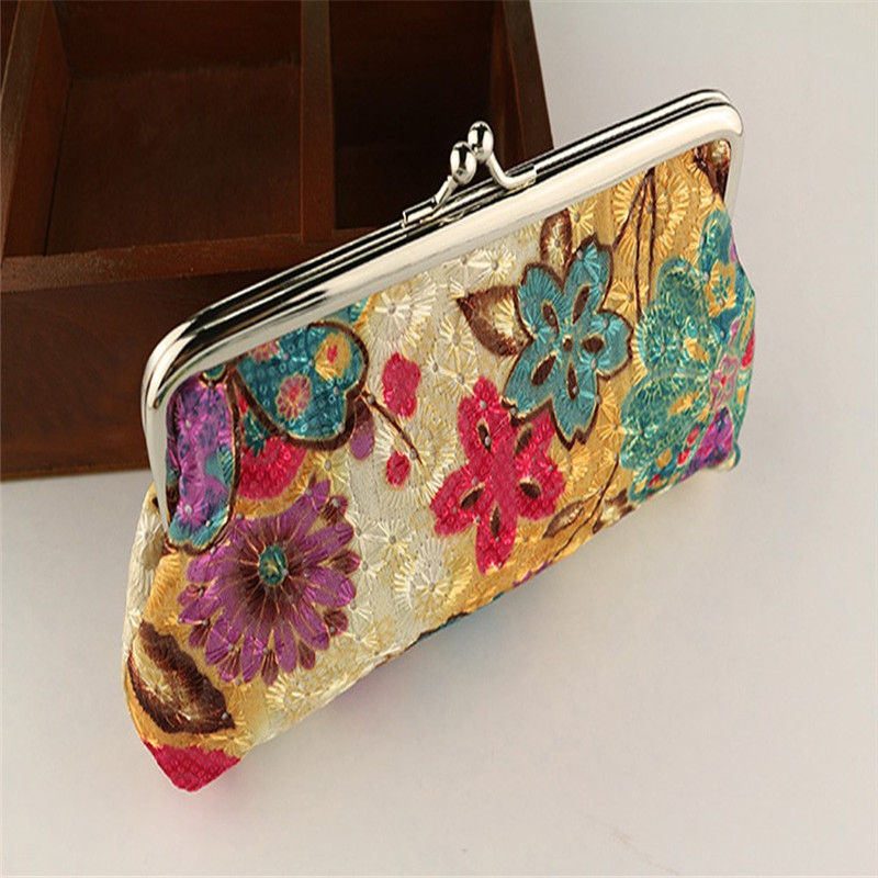 Womens Handbags monederos small pouch Wallets embroidered pouch Children Bags For Girls Beautician Women Purses Womens Purse