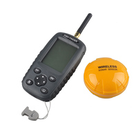 2017 New FF998 Fish Finder Upgrade Russian Menu Rechargeable Waterpoof Wireless Fishfinder Sensor 125KHz Sonar Echo