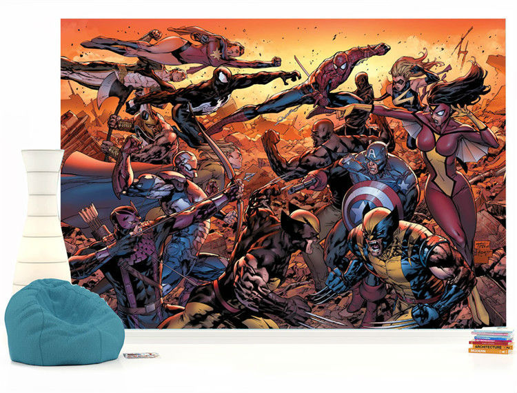 Marvel Wall Mural Cartoon Avengers Photo Wallpaper Movie Wall Mural Marvel  Comics