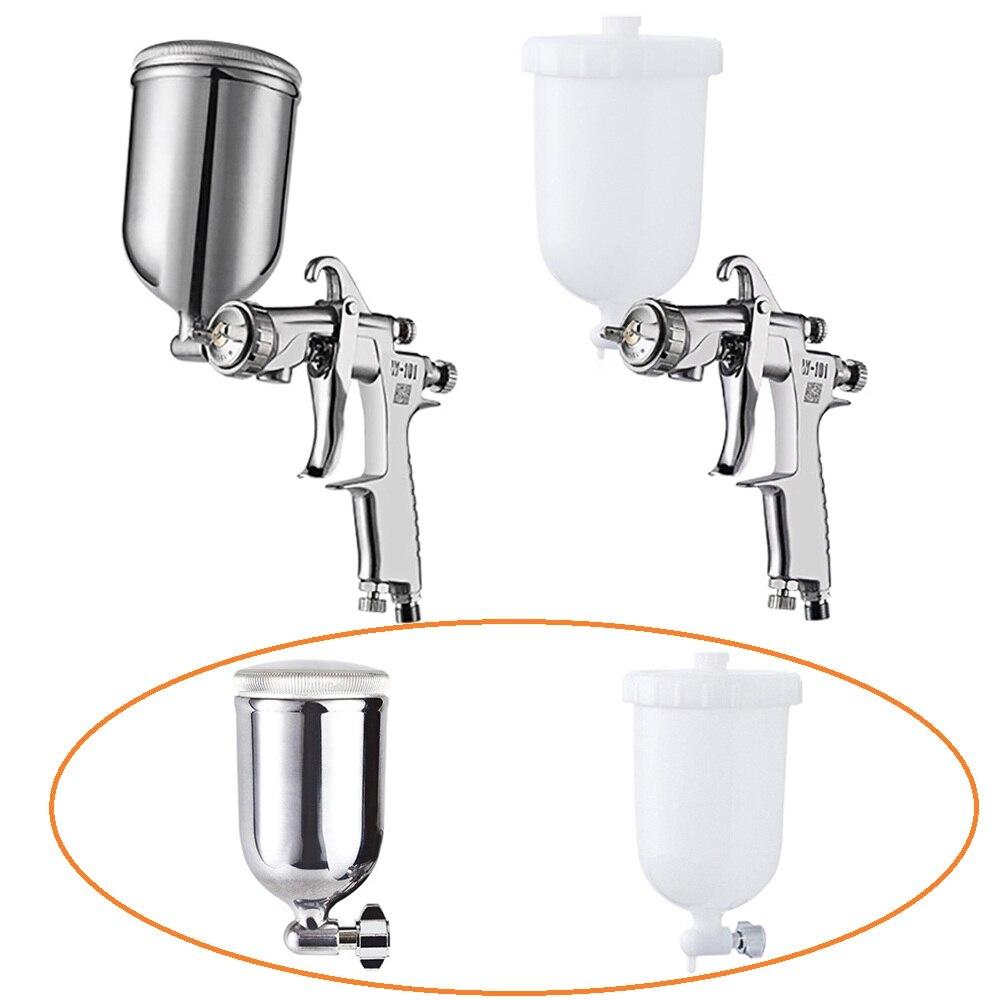 Print Spray Gun Cup Manual Spray Gun 400CC Paint Cup Stainless Steel Pot / Plastic Pot 1/4-19 Inch Thread Connector Suit W101