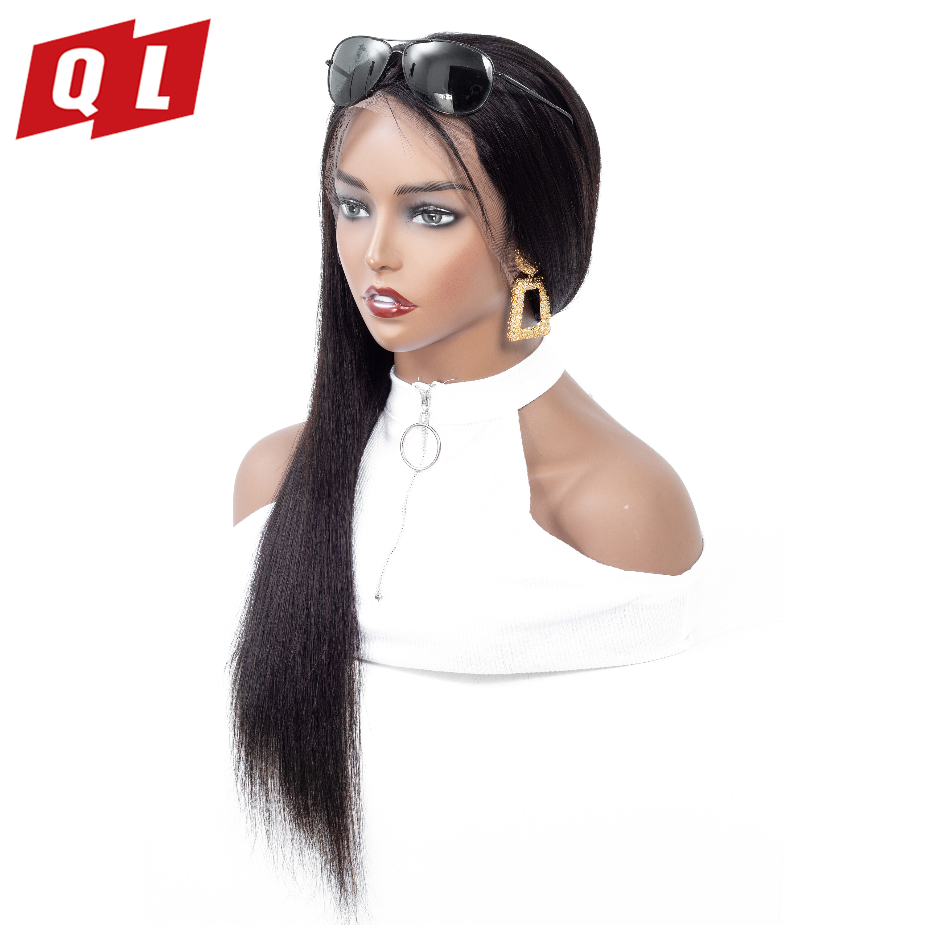 QLOVE Hair 13 4 Brazilian Straight Human Hair Wigs Lace Front Human Hair Wigs Natural Color