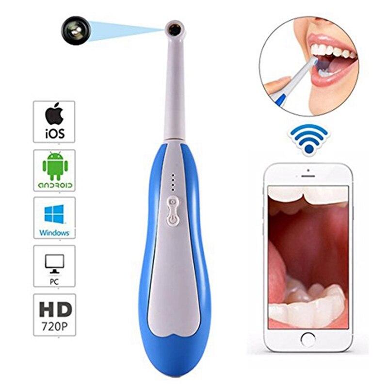 Sans fil HD Dentaire Endoscope WiFi Caméra Intra-orale IP67 LED Dentiste Dent Endoscope Orale en temps Réel Vidéo Inspection Dentaire Outils