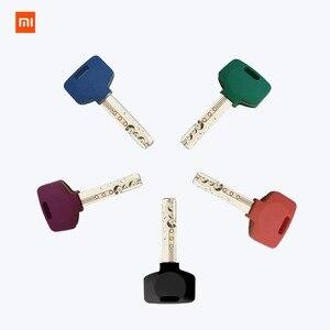 Image 3 - Умный Замок xiaomi mijia для домашней безопасности, практичный Противоугонный дверной замок с ключом, работает с приложением mi Home