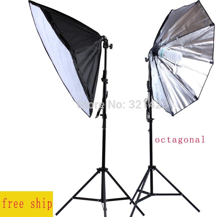 86cm Octagonal Softbox E27 Lamp Holder Photography Lamp Kit 75-200cm Light Stand Continuous Lighting 150W 5500K Bulb 2PCS 1pc 150w 220v 5500k e27 photo studio bulb video light photography daylight lamp for digital camera photography