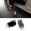 2x Newest LED Car door light ghost shadow light logo projector For Audi A8 A7 A5 A6 A4 A3 A1 TT Q7 Q5 Q3 Sline R8 RS Series