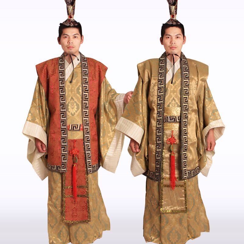 Free Shipping New Chinese Man Han Clothing Emperor Prince Show Cosplay Suit Robe Costume Minister Traditional Ancient Dress