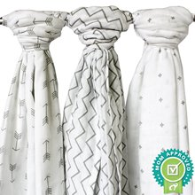 2016 Real Promotion Geometric 0-3 Months Baby Blankets Newborn 100% Organic Baby Muslin Swaddle Blanket Receiving 120*120cm