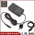 Top qualidade 36 W 12 V 2.58A US UE Carregador Adaptador de Alimentação para Microsoft Pro3 superfície Pro 3 4 i5 i7 1625 Tablet Porta USB de 5 V 1A