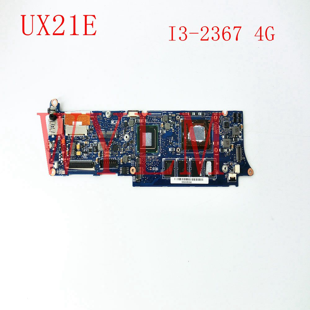 FREE SHIPPING UX21E With I3-2367 CPU 4GB RAM mainboard For ASUS UX21 UX21E Laptop motherboard MAIN BOARD 100% Tested Working for asus x55vdr motherboard 4g ram i3 cpu rev3 1 100% tested integrated original new motherboard
