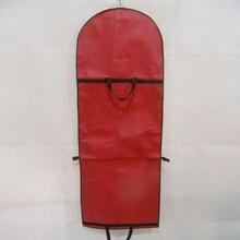 Long Red Non-woven Fabrics Wedding Dress Dust-proof Bag Even