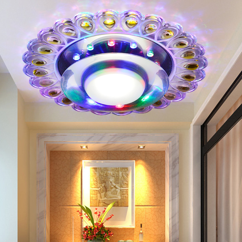 new 2014 3W 5W modern led ceiling lights for living room corridor acrylic hallway lamp AC200-240Vluminaria de teto free shipping 2016 new modern fashion free shipping multi color acrylic sunflower led wall lamp for bedroom hallway corridor