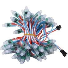 Полноцветный 12 мм WS2811 IC светодиодный пиксельный светильник, цифровой модуль, ленточный светильник DC 5 в 12 В IP68, водонепроницаемый точечный светильник 50 шт