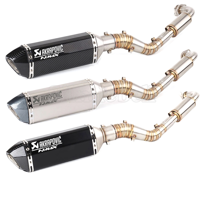 Motorcycle Exhaust NMAX Muffler Slip-On Akrapovic Yamaha Full-System Laser for 125 155