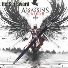Cosplay Assassin's Creed II Game Anime Stainless Steel Western Knight Sword Sharp Edge Real Weapon