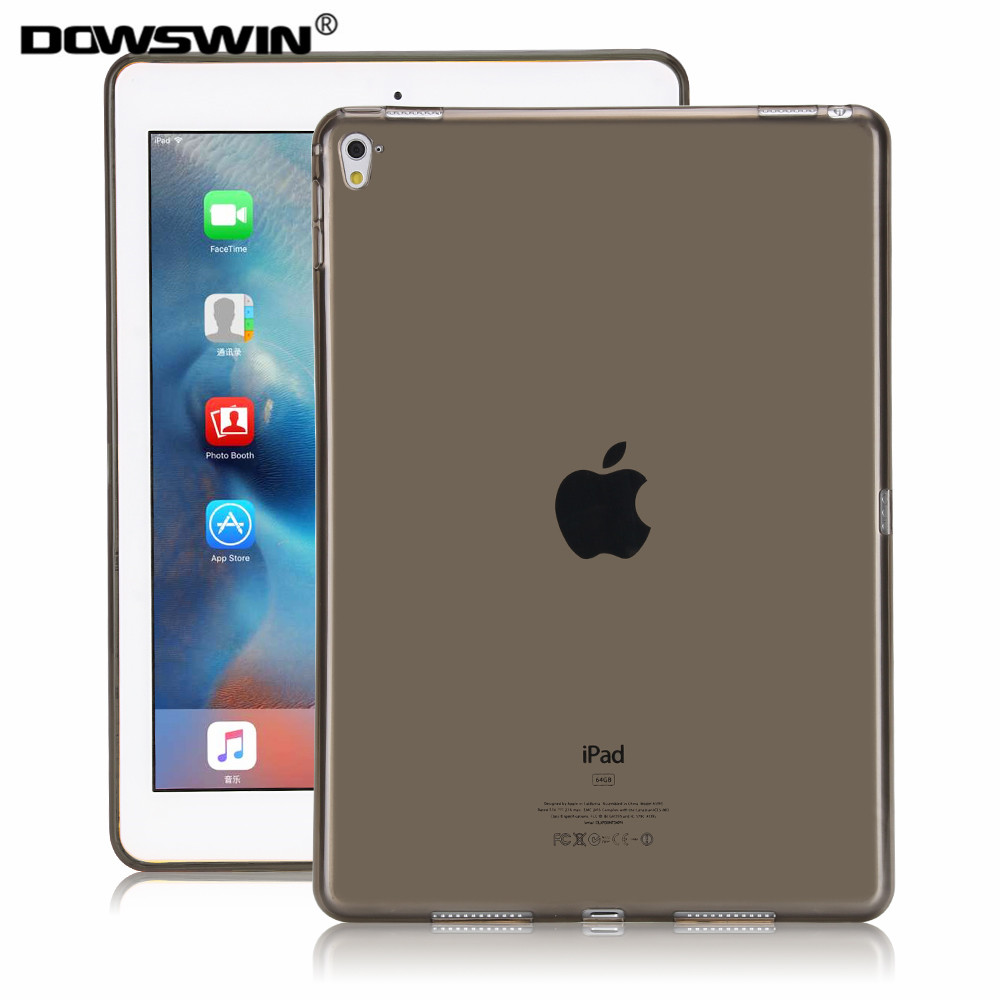 DOWSWIN case for ipad pro 9.7 inch TPU soft transparent Yippee color back cover fashion solid for ipad pro 9.7'' cases candy color soft jelly silicone rubber tpu case for ipad pro 9 7 tpu case skin shell protective back cover for ipad pro 9 7 inch