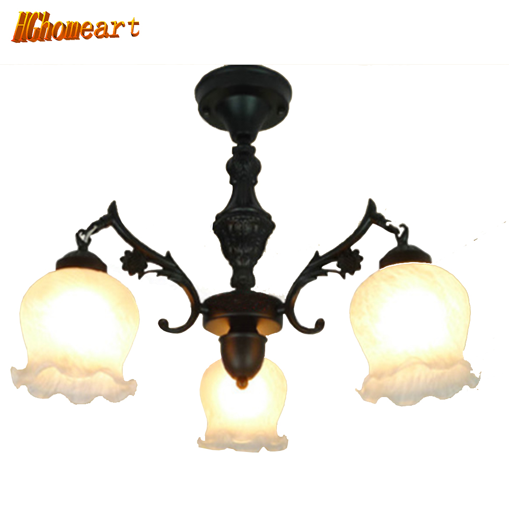 Hghomeart Retro Ceiling Lights Continental Iron Chandelier Restaurant Lamps Bedroom Lighting Fixtures Living Room Retro Lights hghomeart kids led pendant lights basketball academy lights cartoon children s room bedroom lamps lighting