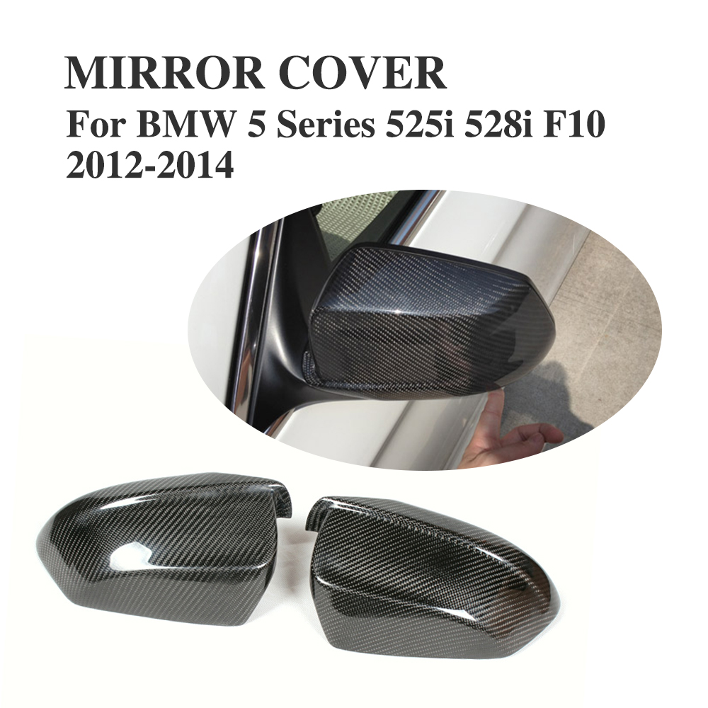 Carbon Fiber Side Wing Mirror Covers For BMW F10 Sedan 528i 535i 2012-2014 Add on style Rearview Mirror Caps Car Styling ct6 replacement carbon fiber side mirror caps for cadillac ct6 4 door sedan 2016 2017