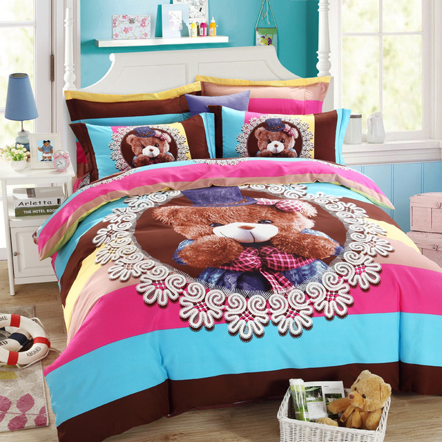 Striped Duvet Cover O Kitty Super Mario Scooby Doo Spongebob Barbie Pokemon Totoro Bed S And