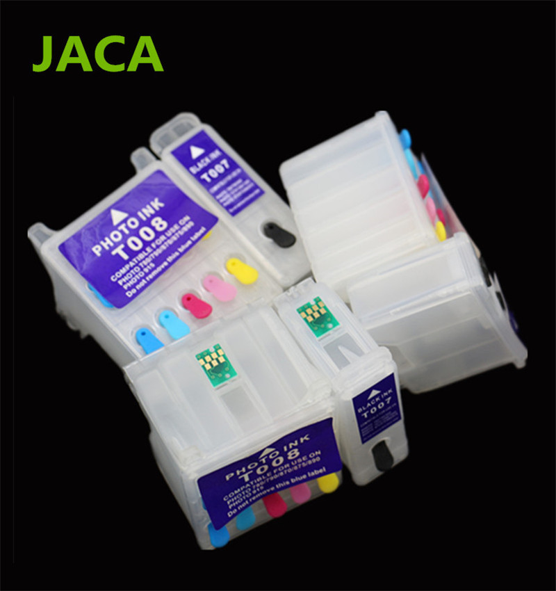Best quality Empty Refillable Ink Cartridge T007 T008 For Epson Stylus Photo 780 785 785EPX 1270