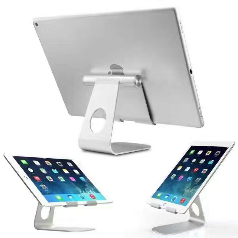 New Design For ipad holder Aluminum Tablet Stand for apple iPad bracket Universal Metal Bracket for iphone for samsung tab orico tablet laptop monitor bracket for apple imac lenovo asus dell bracket base portable aluminum computer stand