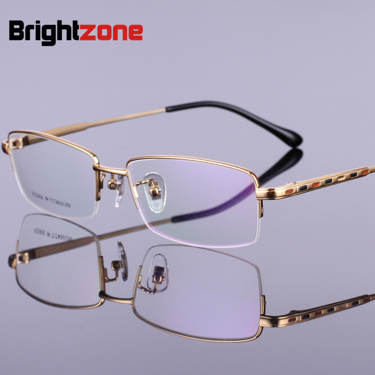 Rx-képes új mintázat tiszta titán szemüvegkeret myopia szemüveg - Ruházati kiegészítők